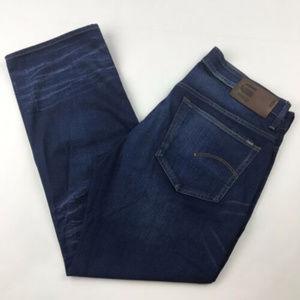 G-Star RAW 3301 Super Slim Blue Jeans MENS 36 x 28